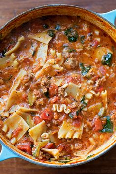 the most delicious lasagna soup you'll ever taste!!!
