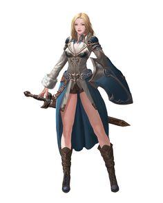 paladin by Hak Sun Kim on ArtStation. Fantasy Female Warrior, Female Armor, Female Knight, Fantasy Armor, Female Character Concept, Fantasy Character Design, Character Design Inspiration, Character Art, Fantasy Art Women