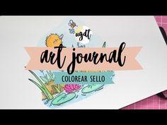 Colorear sello con Tombow Dual Brush - Tutorial art journal - rotulador acuarelable - UGDT - YouTube