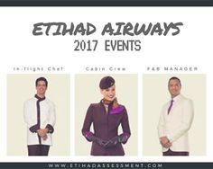 Etihad 2017 tour looking for talented cabin crew with hospitality and customer service experience. If it sounds like fun, why not apply!
