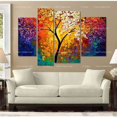 beautiful Large canvas no frame Modern Abstract Art Oil Painting #Abstract $505MXP