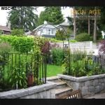 Browse through our gallery to find an ideal stairway/ railing design for your home/ office in Vancouver. Cinder Block Garden, Raised Garden Beds, Raised Bed, Poured Concrete, Railing Design, Iron Age, Stairways, Water Features, Wrought Iron