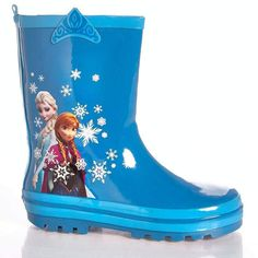 new #disney frozen anna & elsa toddler girl blue snowflake rain boots size 11/12 from $26.99