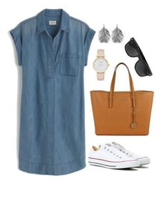 A white Converse outfit is both stylish and comfortable. You'll be ready for t. A white Converse outfit is both stylish and comfortable. You'll be ready for traveling, running errands, taking the kids here, there and everywhere. Mode Outfits, Casual Outfits, Fashion Outfits, Womens Fashion, Diy Outfits, Travel Outfits, Comfortable Summer Outfits, Style Outfits, Tumblr Outfits