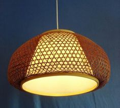 FERR SHIPPING EMS Vintage decoration bamboo lantern bamboo lamp cover pendant light coffee 1357-inPendant Lights from Lights & Lighting on A...