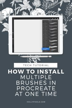 Finally how to install multiple brushes in Procreate at one time. If you have purchased a set of a brushes then you know it's a pain to install each brush one by one. Right? Now you can install them all at once in this super easy way to install Procreate Brushes. At Holly Pixels I'm here to help you master Procreate for lettering so you can have more fun creating gorgeous lettering projects for your business, fans, or as a hobby. #procreate #ipadlettering #procreatelettering #brushlettering