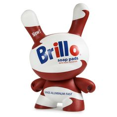 "Andy Warhol White Brillo 8"" Masterpiece Dunny by Kidrobot - Pre-order - Mindzai"