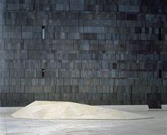 Ortner and Ortner - Mumok Concrete Architecture, Museum Architecture, Garden Architecture, Architecture Details, Interior Architecture, Basalt Stone, Slate Stone, Grey Slate, Stone Interior