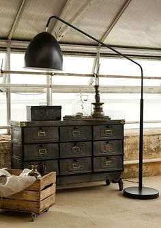 Master bedroom dressers one on each side of bed My industrial interior: januari 2013
