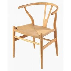 Set of 2 Wishbone Cord Chair Hans Wegner Replica Beech