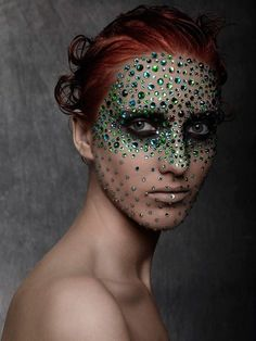 This is different. Mermaidy jeweled face makeup mask.