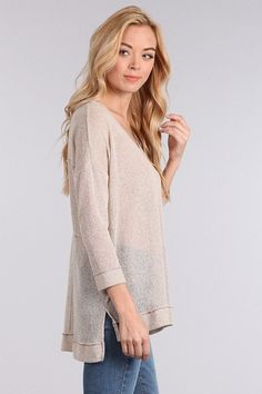 Beige Knit Tunic