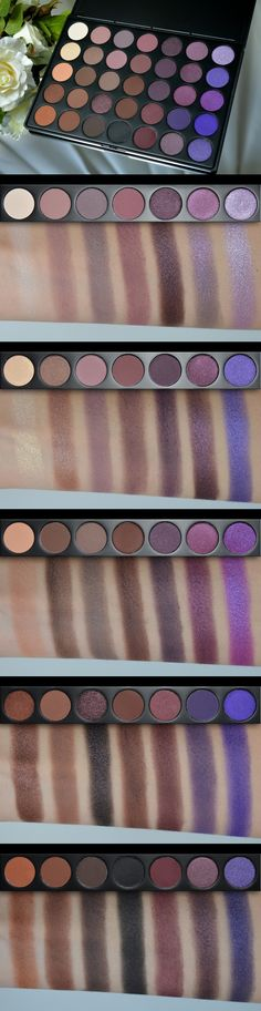 Morphe 35P palette swatches