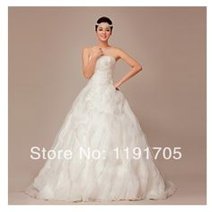 Free shipping Scoop Beaded White Prom dress 2014 Ball Gown Floor Length Bridal Gowns 2014 New Arrival $210.00