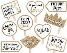 Bridal Shower Props, Simple Bridal Shower, Chic Bridal Showers, Bridal Shower Decorations, Photos Booth, Photo Booth Props, Selfies, Painted Letters, Hand Painted Signs