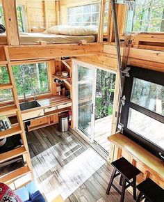 """11k Likes, 53 Comments - Tiny Houses (@tinyhouse) on Instagram: """"The ideal getaway! Built by Cabinscape in Ontario, Canada"""""""
