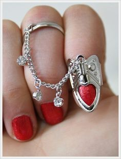 I found 'Just Fashion: Heart Nail Ring' on Wish, check it out! Nail Jewelry, Body Jewelry, Jewelry Box, Unique Jewelry, Jewellery, Lizzie Hearts, Heart Nails, Nail Accessories, Schmuck Design