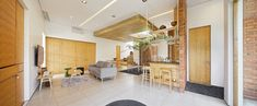 Image 2 of 27 from gallery of Flick House / DELUTION. Photograph by Fernando Gomulya Green Architecture, Concept Architecture, Indoor Outdoor Living, Outdoor Living Areas, Open Layout, Big Houses, 2nd Floor, Living Room Modern, Contemporary Interior