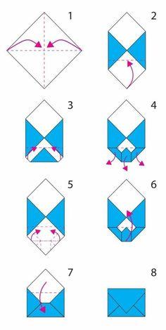 folding origami envelope, the steps for constit . - Informations About folding origami en Envelope Diy, Envelope Origami, Origami Letter, Instruções Origami, How To Make An Envelope, How To Make Envelopes, Origami Hearts, Origami Folding, Origami Ball