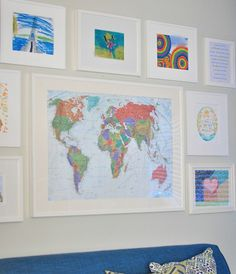 "link of where to get map and how to hang it.  use it with the ""i hope they call me on a mission""  for kales room"