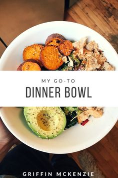 #paleo #whole30 #gotodinnerbowl #eatrealfood #healthyliving #easyweeknightrecipes Whole 30 Breakfast, Clean Eating Breakfast, Clean Eating Dinner, Clean Eating Plans, Clean Eating Recipes, Healthy Eating, Whole 30 Recipes, Real Food Recipes, Cooking Without A Recipe