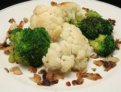 Pan-Roasted Broccoli & Cauliflower