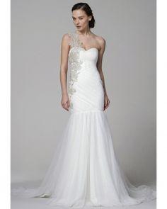 One-shoulder Marchesa Wedding Dress, Spring 2012 Bridal Collection Marchesa Wedding Dress, Marchesa Bridal, Dream Wedding Dresses, Bridal Dresses, Wedding Gowns, Marchesa Spring, Bridal Looks, Bridal Style, Wedding Trends