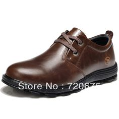 Brown Wedding Shoes   ... wedding office leather shoes brown perspirationShockproof freeshipping