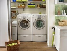 Hmmm, could I fit the washer and dryer in the closet?