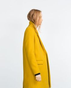 bright yellow coat #style #fashion #winter #mustard
