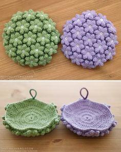 Crochet Basket Pattern, Crochet Square Patterns, Crochet Dolls, Knit Crochet, Crochet Potholders, Free Pattern, Diy And Crafts, Crochet Earrings, Cross Stitch