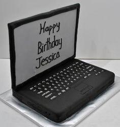 Laptop cake