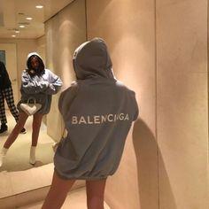 balenciaga hoodie 🌫 uploaded by Maria ♡ on We Heart It Fashion Killa, Look Fashion, Fashion Outfits, Womens Fashion, Fashion Mask, High Fashion, 2000s Fashion, Fashion Today, Fashion Goth