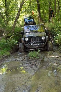 There's no better day than Muddy Monday! Nissan Trucks, Toyota Trucks, Chevrolet Trucks, Ford Trucks, Jeep Wave, Cool Jeeps, Jeep Wrangler Unlimited, Truck Camper, Rolls Royce