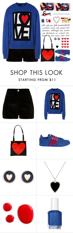 """love fashion"" by licethfashion ❤ liked on Polyvore featuring River Island, Love Moschino, Moschino, adidas, Brooks Brothers, Jennifer Meyer Jewelry, Essie, Yves Saint Laurent, polyvoreditorial and licethfashion"