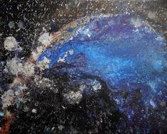 Gravity Original Abstract Art Dark Space Painting Black Blue White abstract Canvas art Concept Artwork Glitter Galaxy Wall art bedroom decor Space Painting, Beautiful Artwork, Original Artwork, Original Paintings, Gouache, Blue And White, Abstract Art, Contemporary Art, Artworks