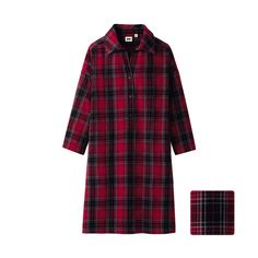Uniqlo Flannel Tunic. I would put a thin brown belt at the waist, dark hunter green tights and my riding boots.
