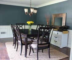 Benjamin Moore Nocturnal Gray dining room paint color | Involving Color Paint Color Blog