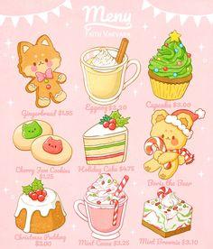 Stickers Kawaii, Food Stickers, Cute Stickers, Cute Food Drawings, Cute Animal Drawings Kawaii, Arte Do Kawaii, Kawaii Art, Cute Food Art, Cute Art