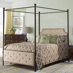 Red Barrel Studio Alchemist Upholstered Canopy Bed