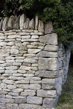 Dry stone wall by Britt Willoughby Dyer