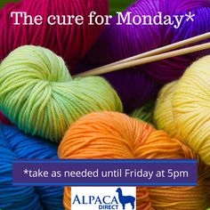 The cure for Monday!  #knitting #yarn #crochet