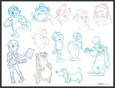 Doodle Fun by chewgag.deviantart.com on @DeviantArt #doodles #drawing #illustration #characterdesign Sketchbook and scrap paper meeting doodles