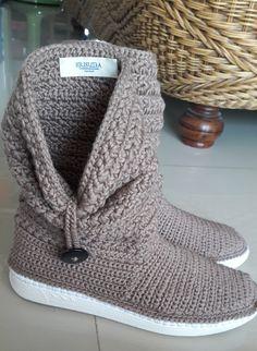 my lovely crochet boot