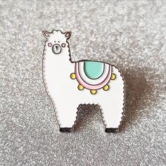 Llovely Llama Pin by LittleDesignsByKim on Etsy