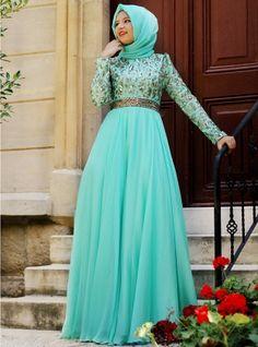 Zühre Abiye - Mint Yeşili- Agonya Moda