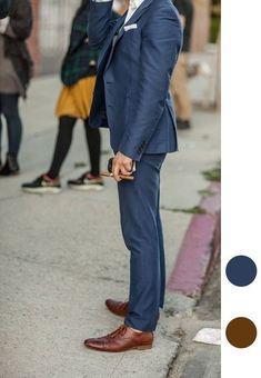 What colour shoes with a blue suit? - Quora