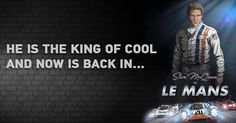 He is the king of cool, and is back in Le Mans! It's going to be a wild ride. Are you ready, Le Mans fans? #coolisback #SteveMcQueen