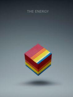 El fotógrafo alemán Christian Stoll quería poner sentimiento a los colores, para esto uso cubos con distintas combinaciones de colores.