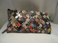 Purse made from comic books